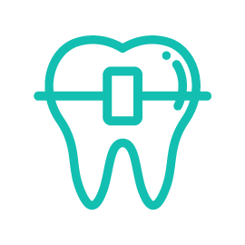 Teal icon symbolizing orthodontics